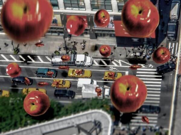 apel jatuh